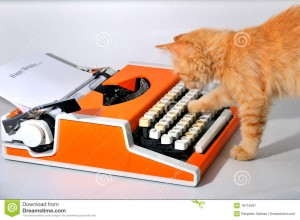 chat-et-machine-crire-16716297
